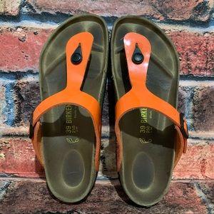 Birkenstock Gizeh Orange Sandals